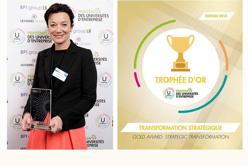Le Groupe TF1 a remporté le Trophée U-Spring de la transformation Stratégique